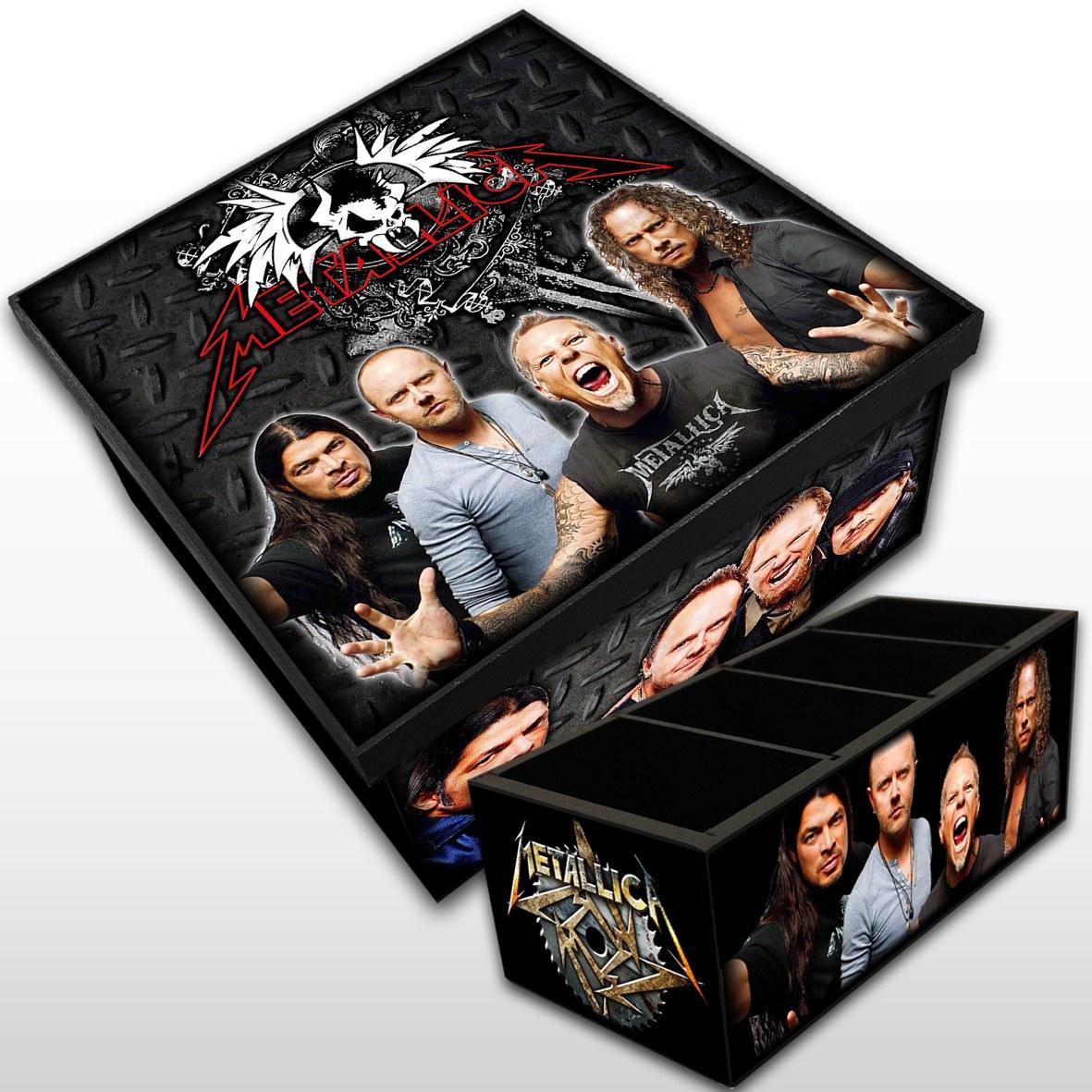 Kit Metallica - Caixa Mdf  + Porta Controle Banda