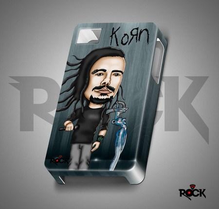 Capa de Celular Exclusiva Mitos do Rock Korn