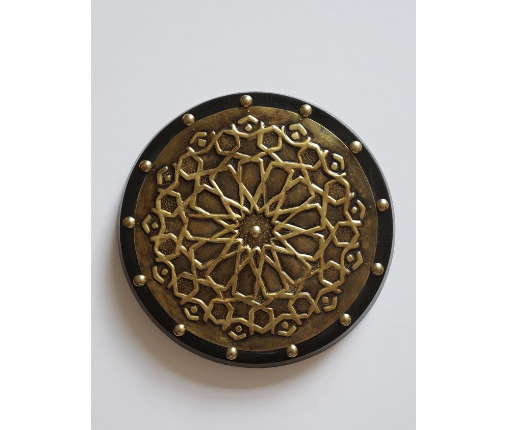 Peça Decorativa Mandala Geométrica  em latão