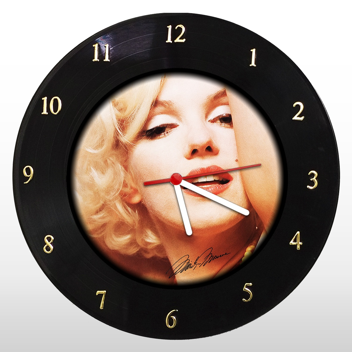 Marilyn Monroe - Relógio de Parede em Disco de Vinil - Mr. Rock
