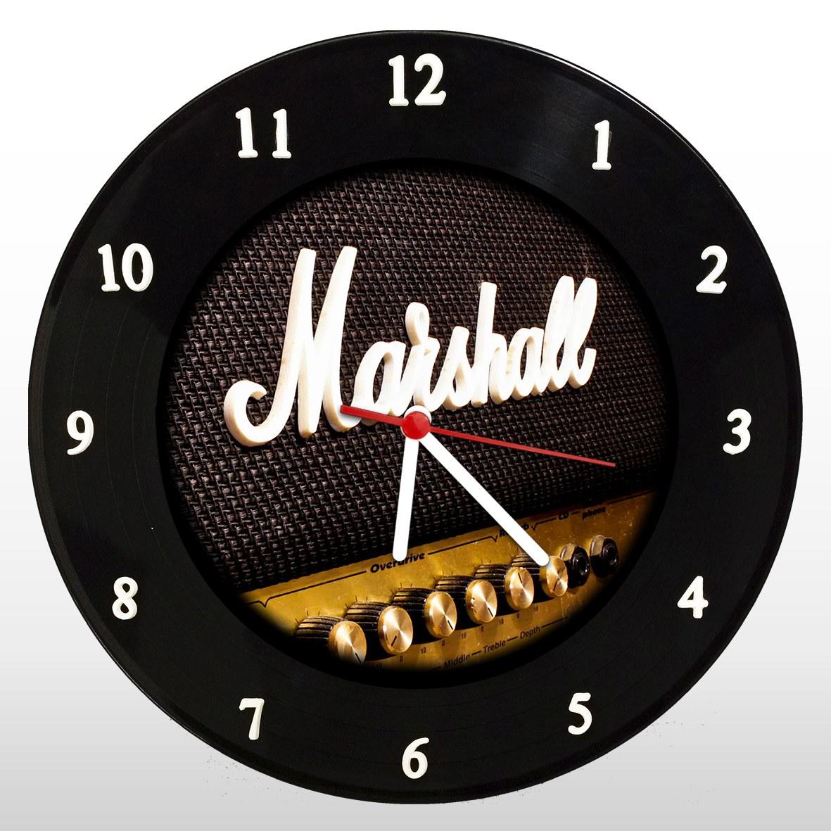 Marshall - Relógio de Parede em Disco de Vinil - Mr. Rock