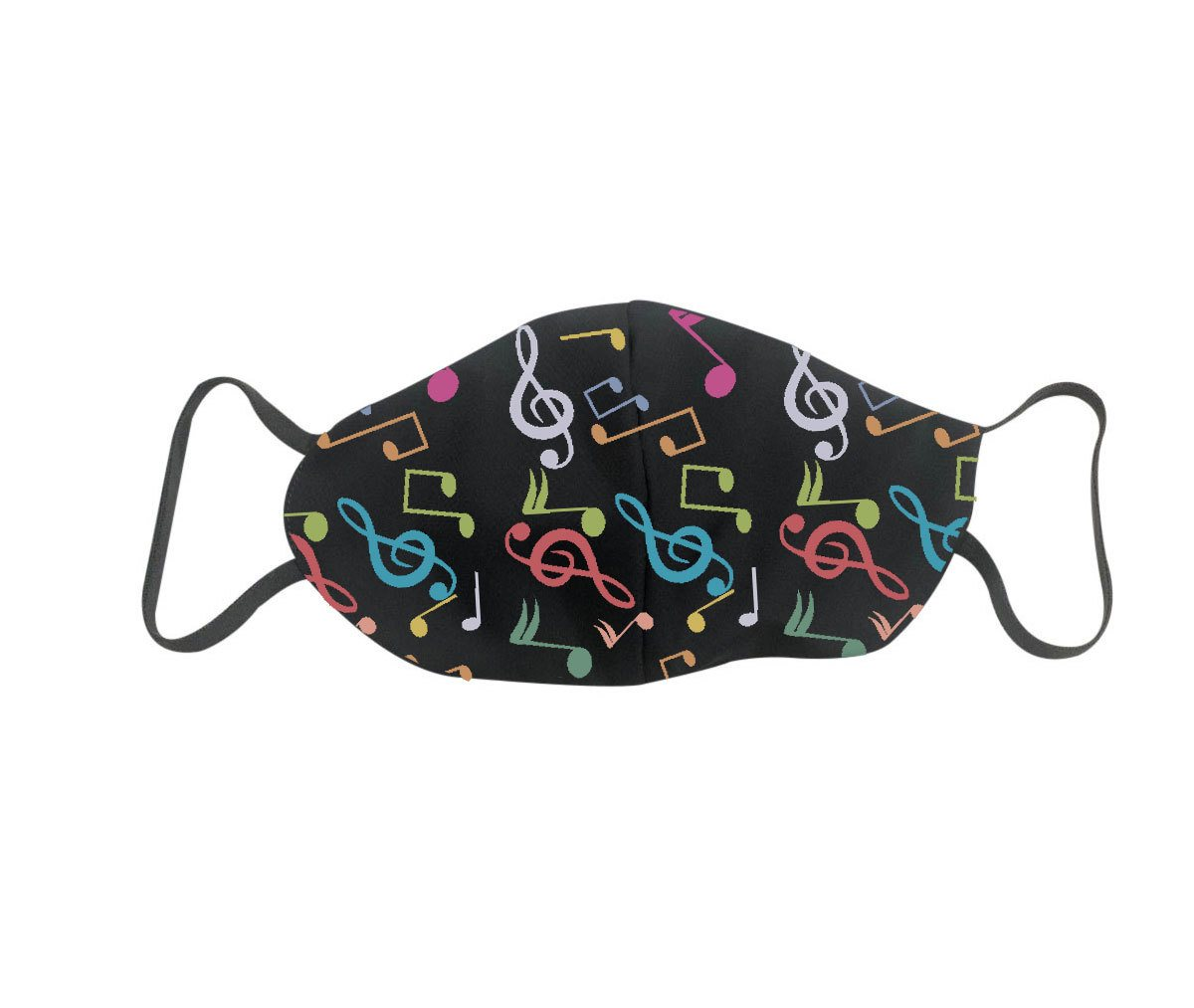 Máscara de Proteção lavável reutilizável em tecido poliéster com elástico - Kit com 3 unidades