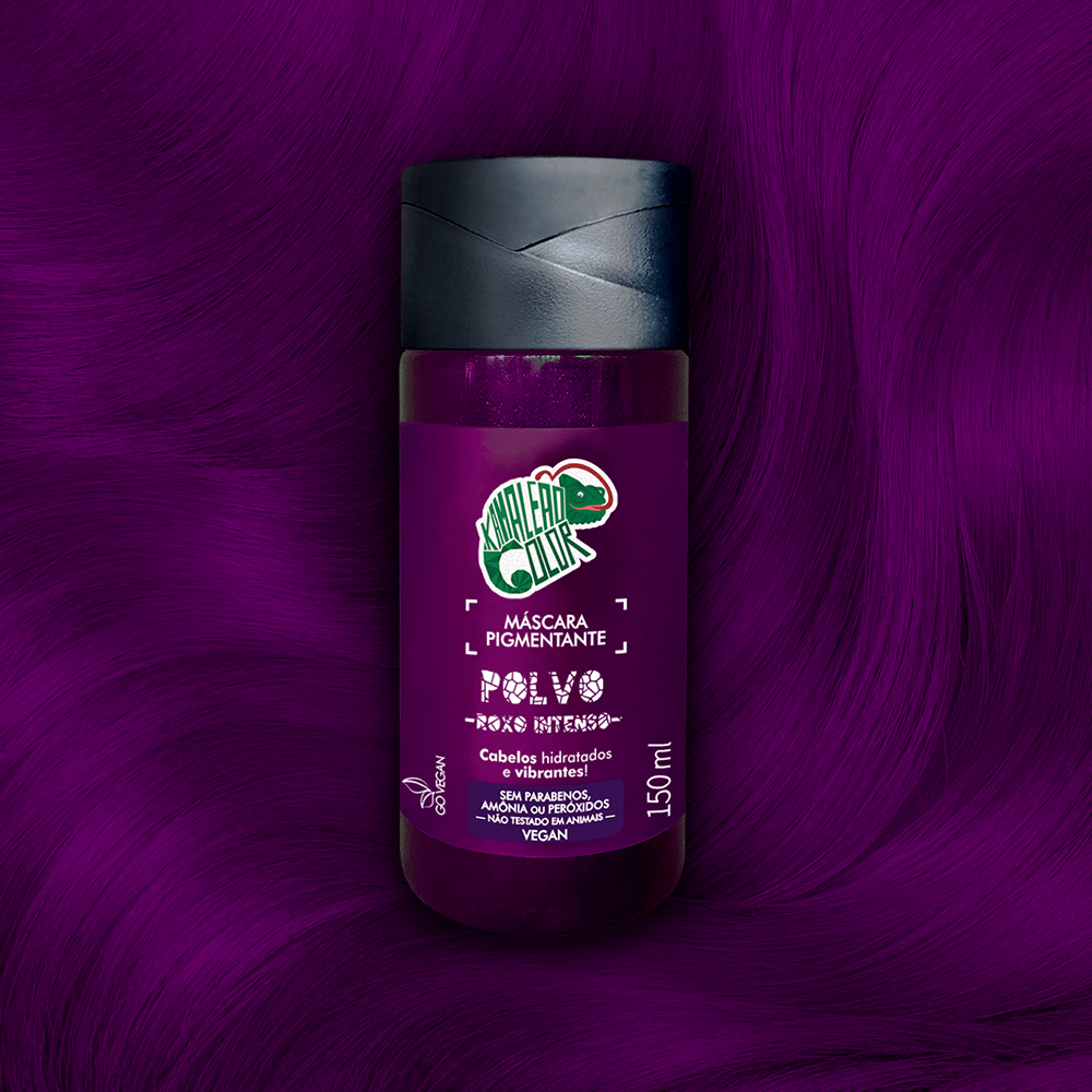 Máscara Pigmentante Kamaleão Color Polvo Roxo intenso 150ml