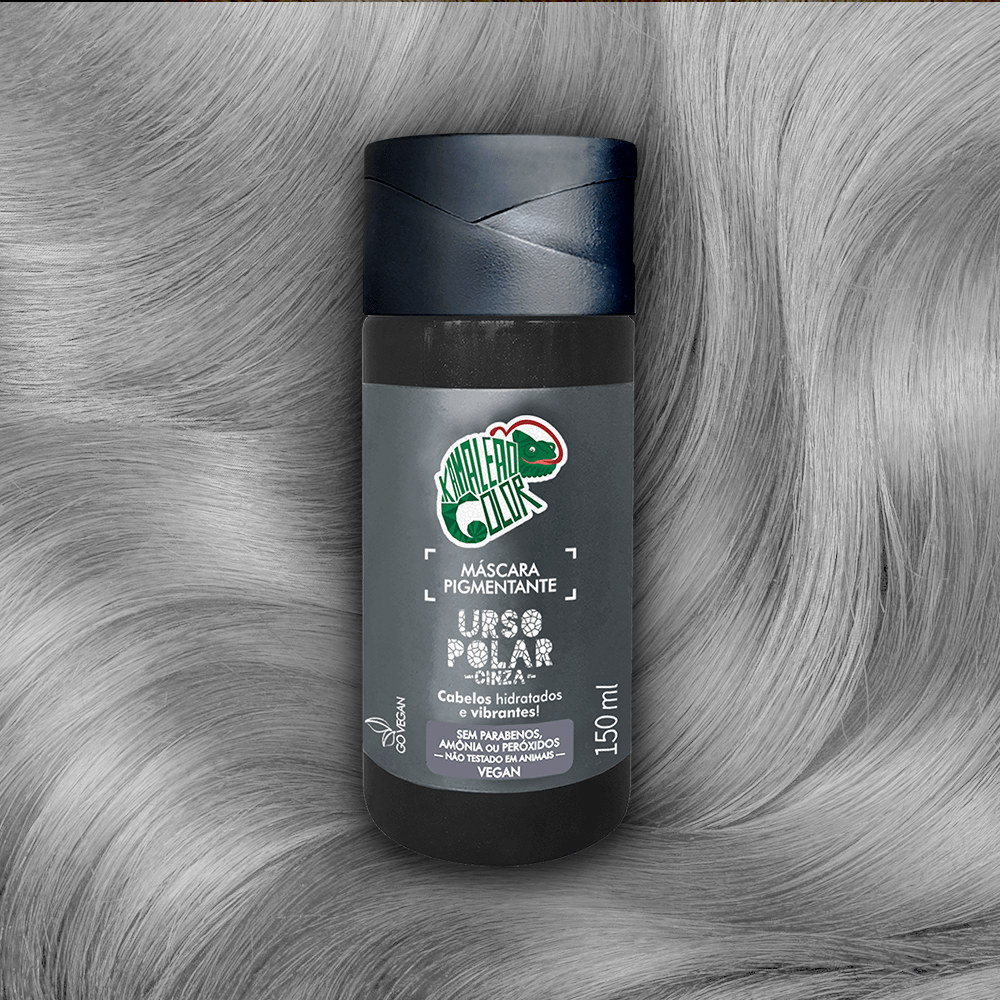 Máscara Pigmentante Kamaleão Color Urso Polar Cinza 150ml