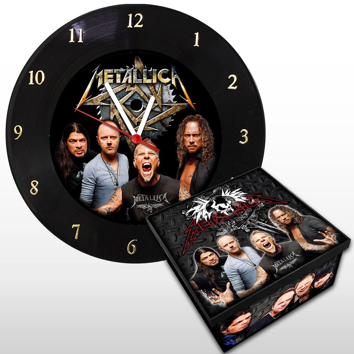 Metallica - Kit: Relógio De Parede + Caixa Média