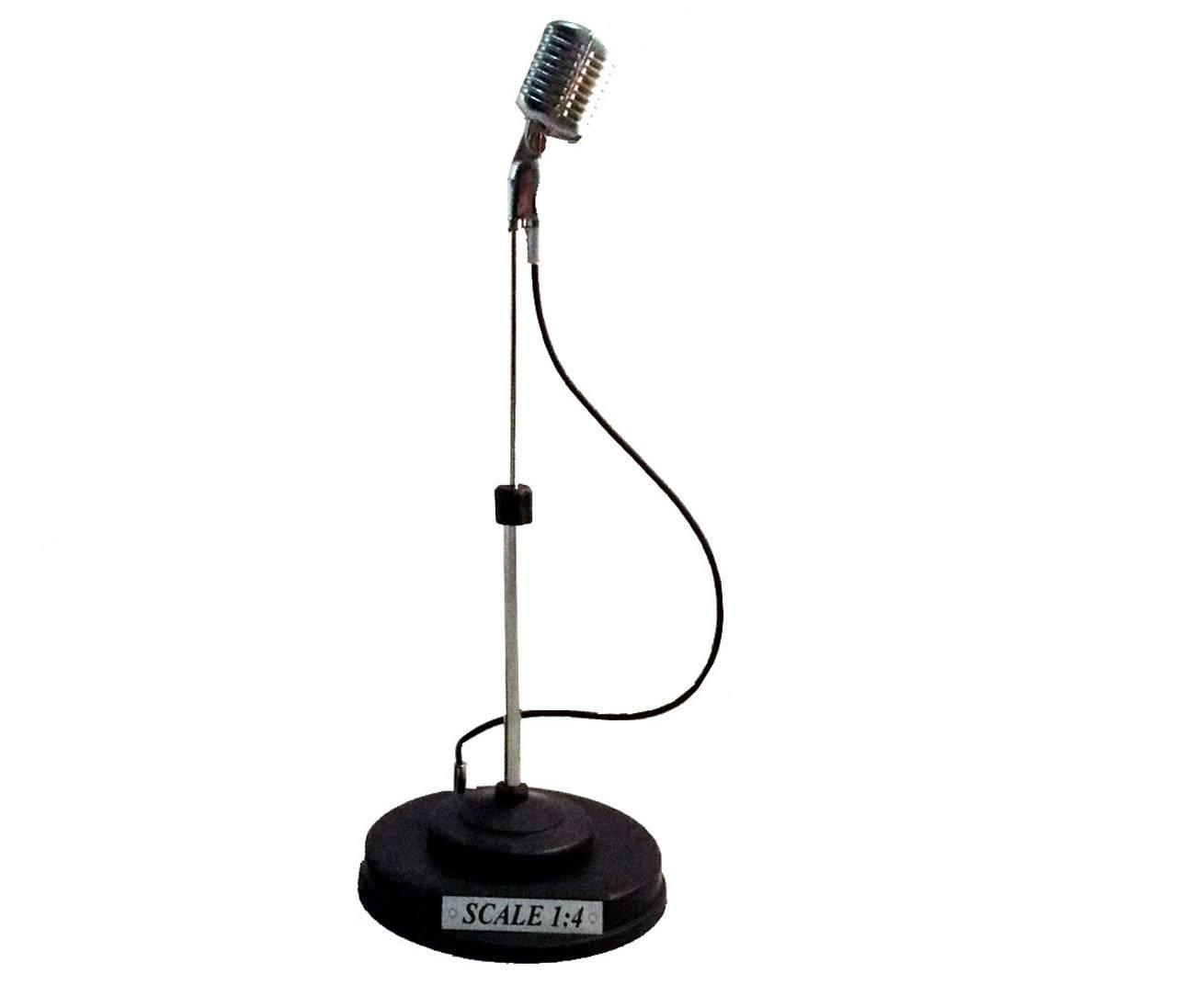Miniatura Microfone Anos 60 21cm