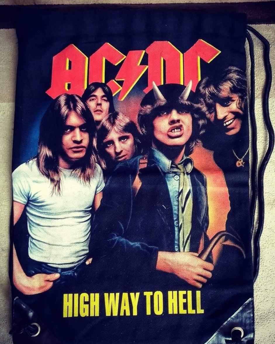 Mochila saco AC DC High Way to Hell
