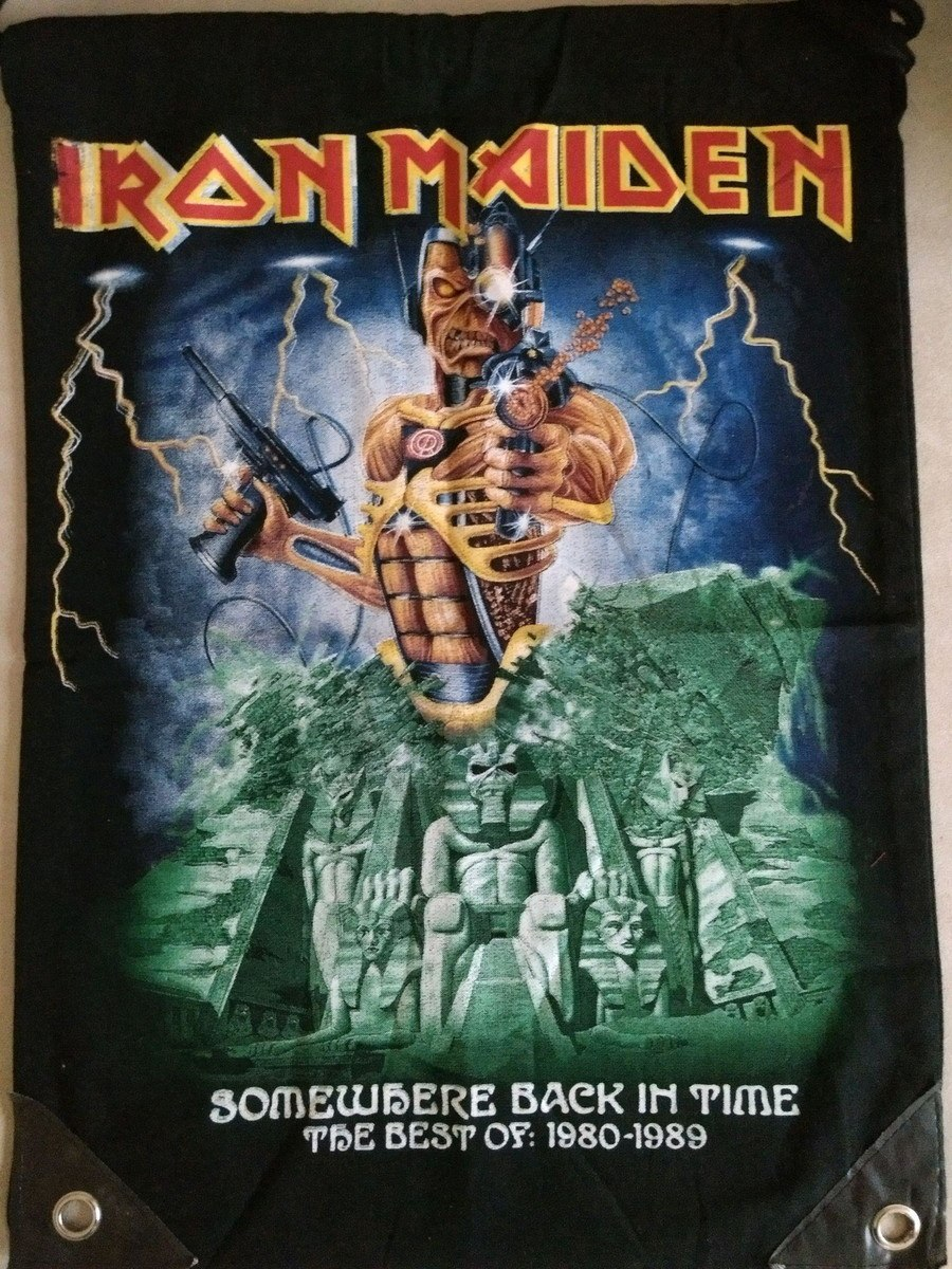 Mochila saco Iron Maiden - Somewhere Back in Time