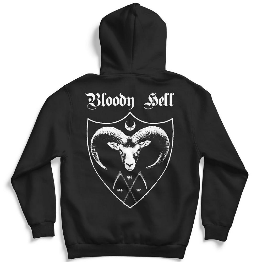 Moletom Canguru com Capuz Unissex Goat - Bloody Hell Wear