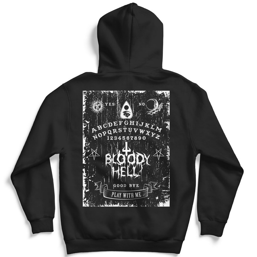 Moletom Canguru com Capuz Unissex Ouija - Bloody Hell Wear