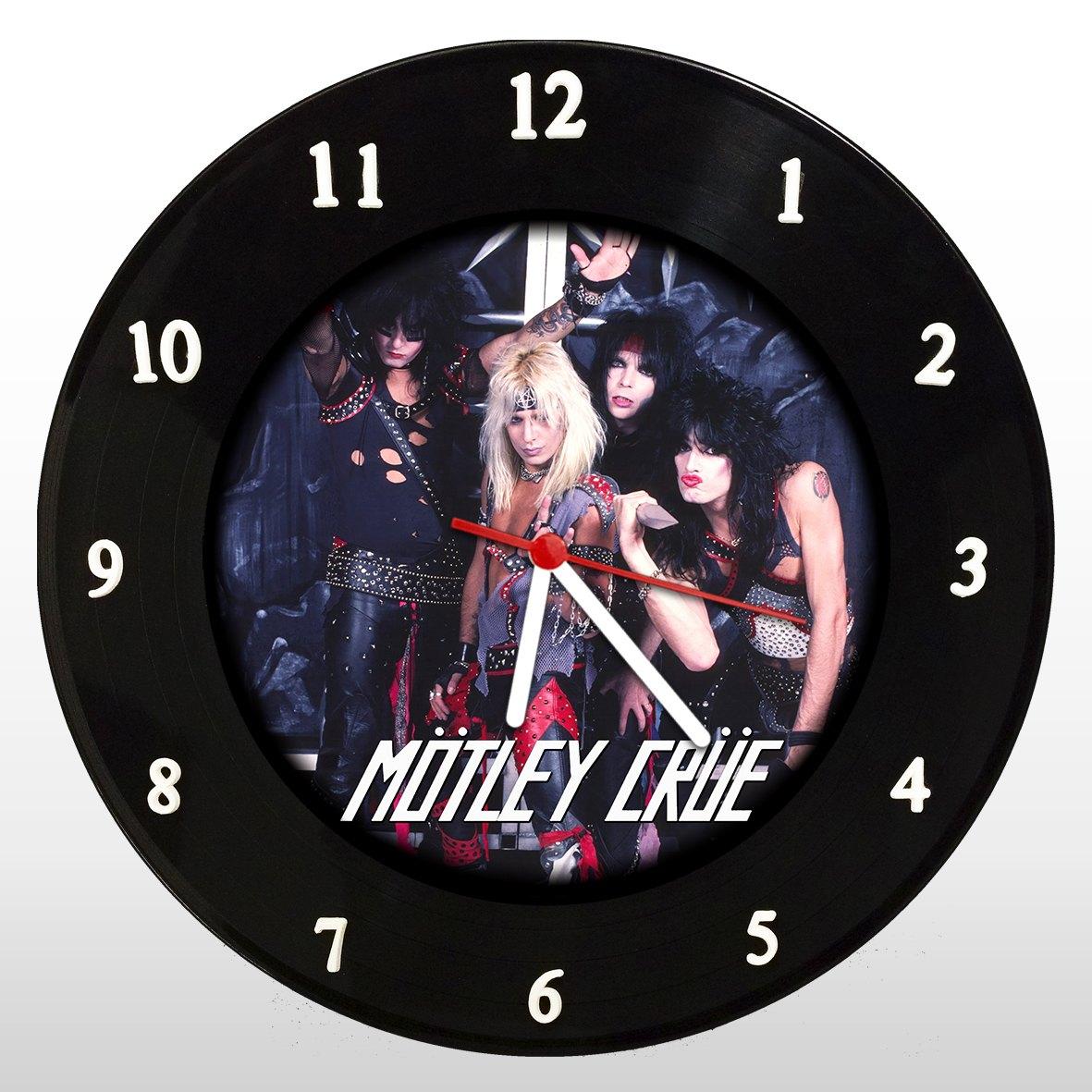 Motley Crue - Relógio de Parede em Disco de Vinil - Mr. Rock