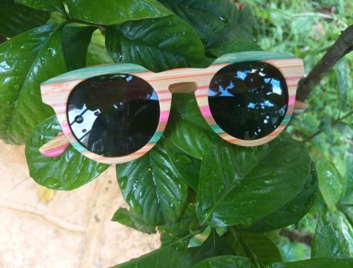 Óculos de Sol de Madeira - Coleção Floripa – SkullAchando