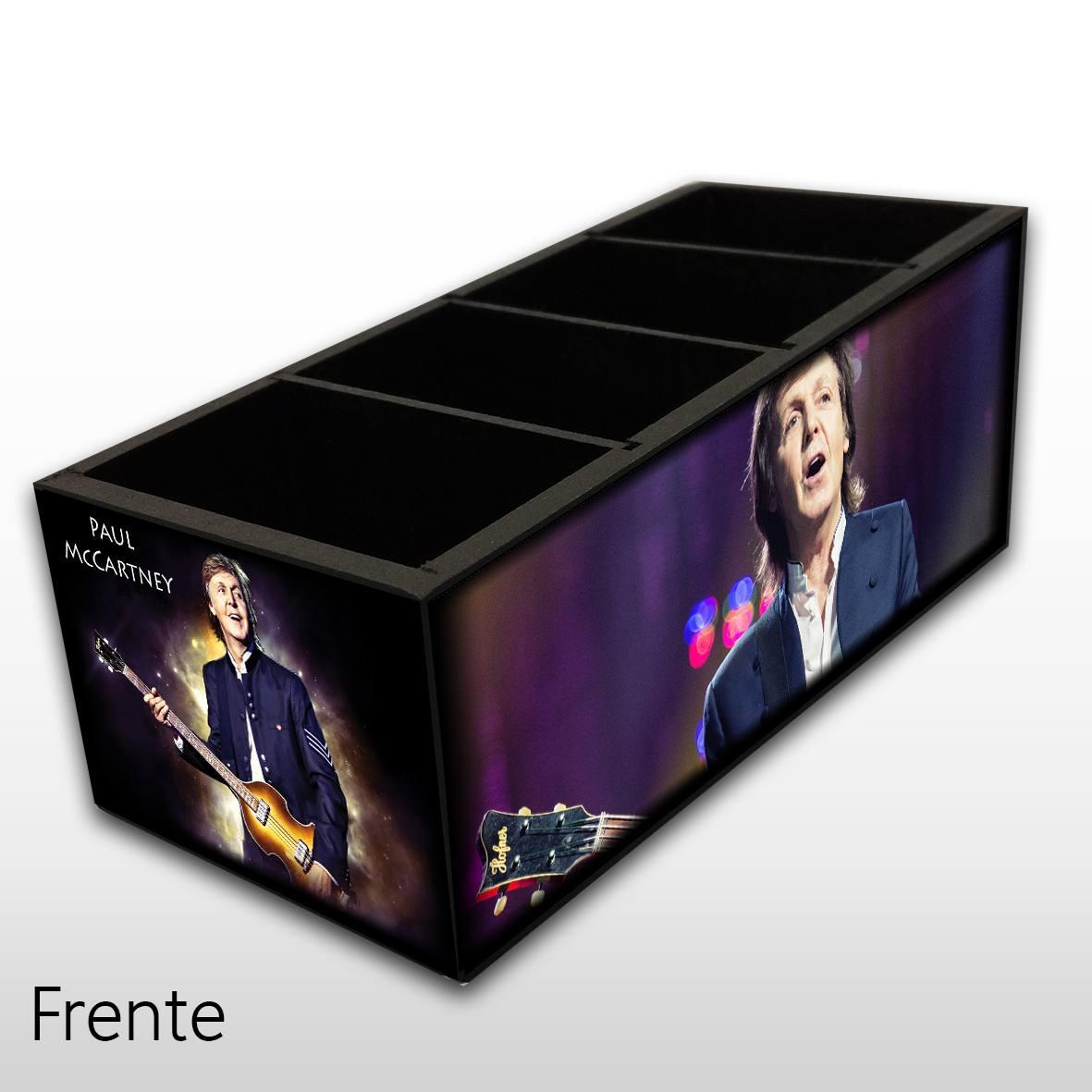 Paul McCartney - Porta Controles em Madeira MDF - 4 Espaços - Mr. Rock