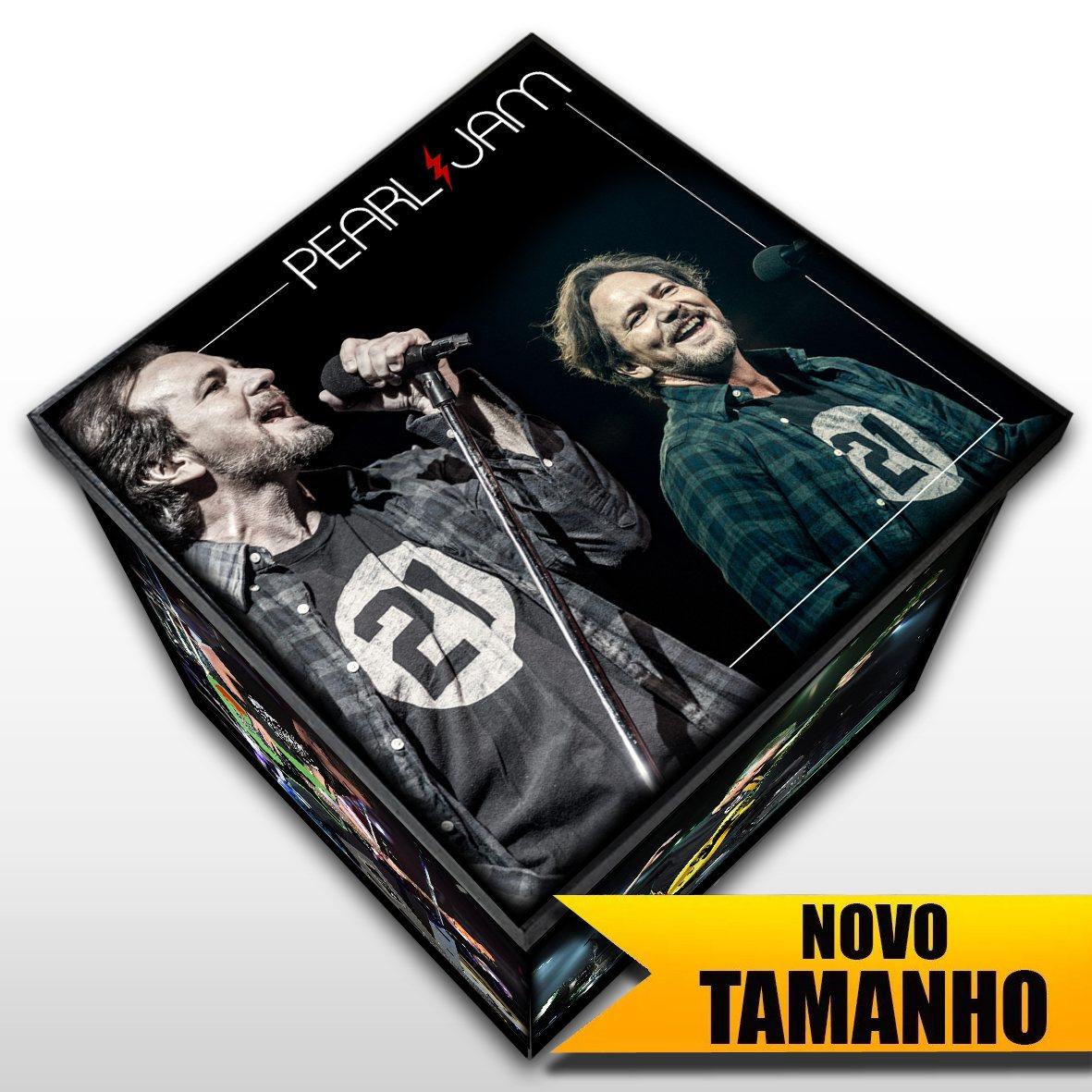 Pearl Jam - Caixa Em Madeira MDF - Tamanho Grande - Mr. Rock