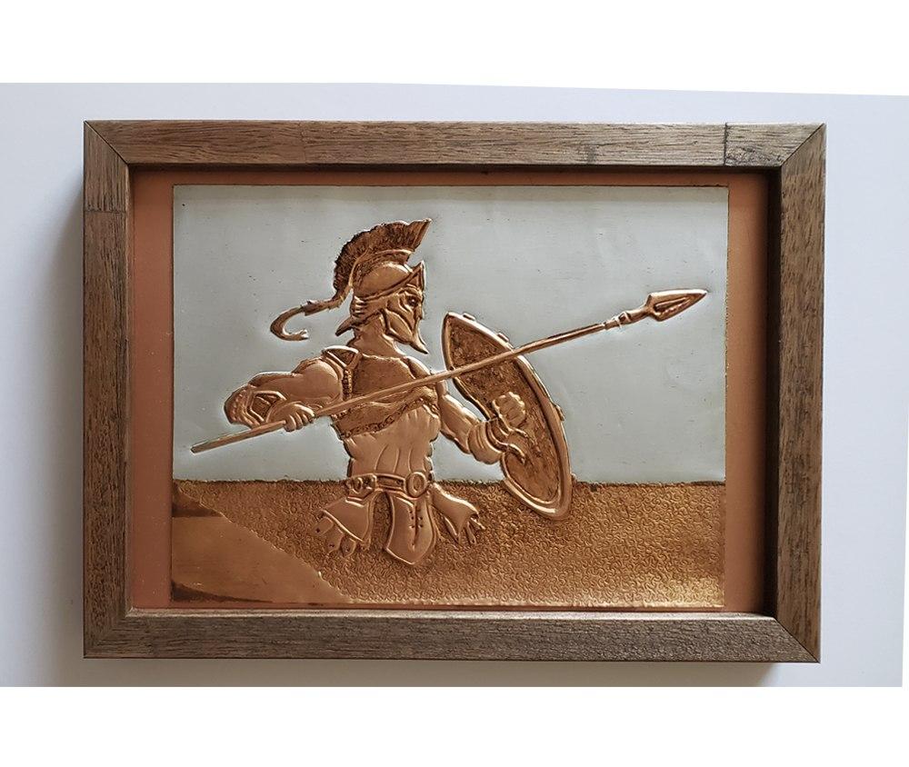 Peça Decorativa em cobre Guerreiro Troiano