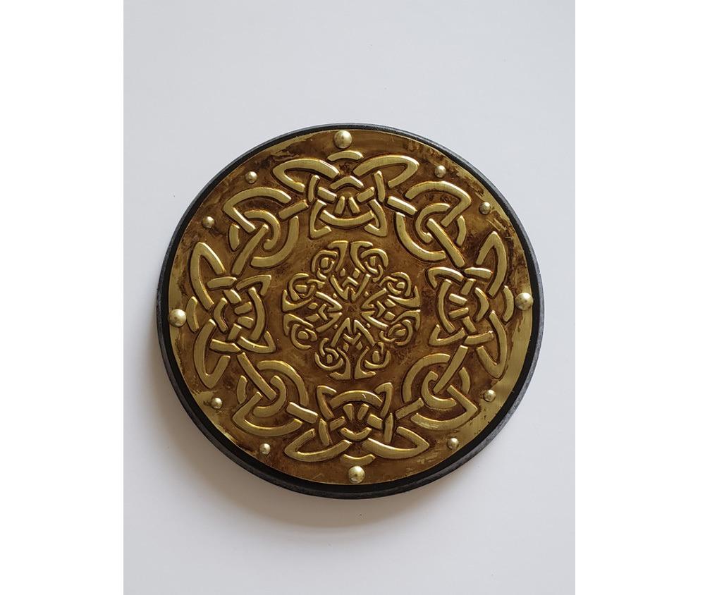 Peça Decorativa em latão Celta Triskel