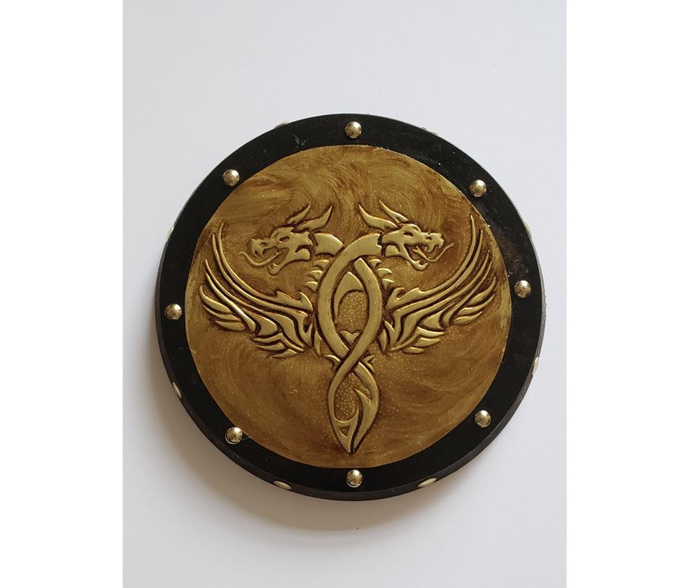 Peça Decorativa em latão Dragão Gótico