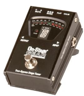 Pedal para Guitarra com Afinador On Stage GTA-7800 True Bypass