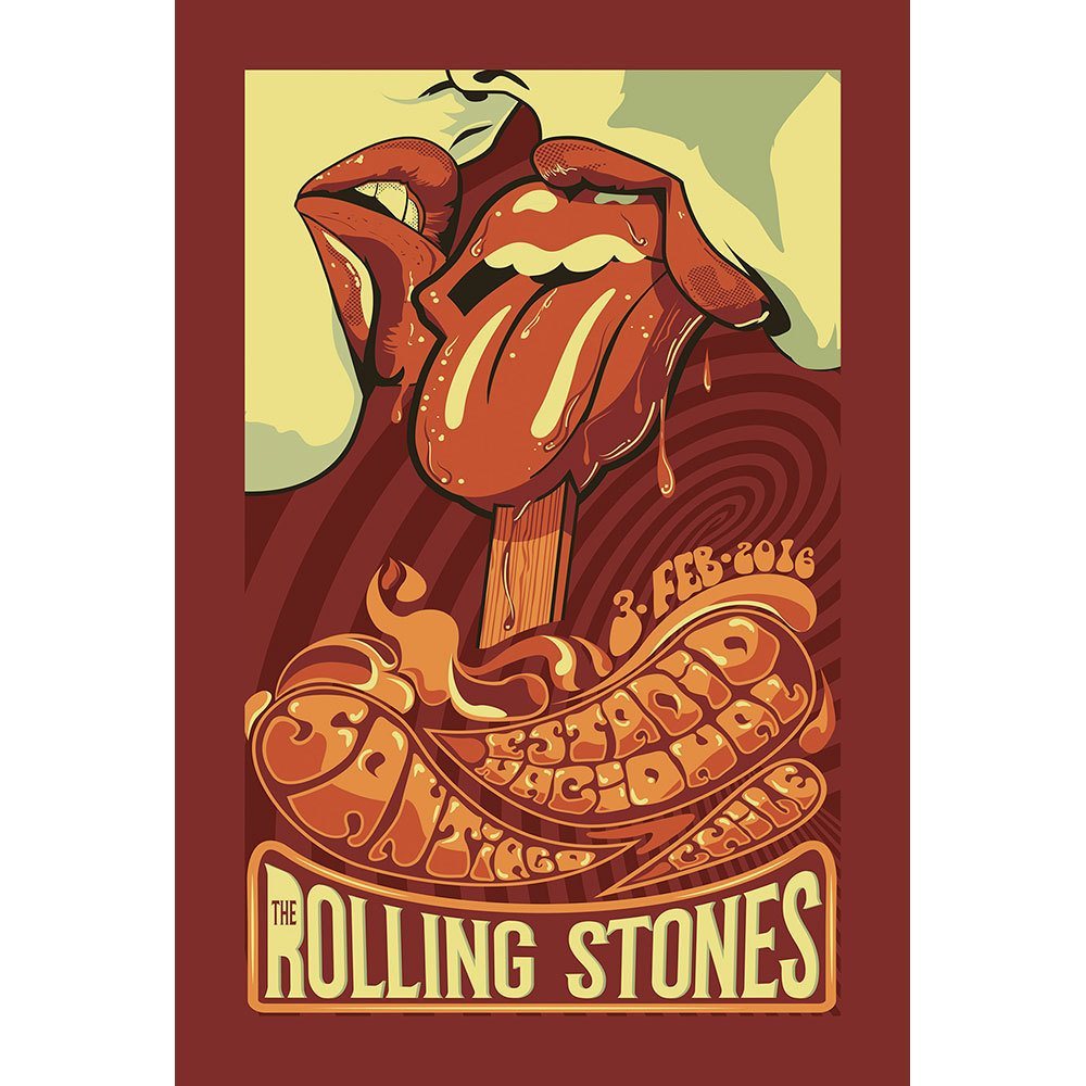 Placa Decorativa Planeta Decor The Rolling Stones