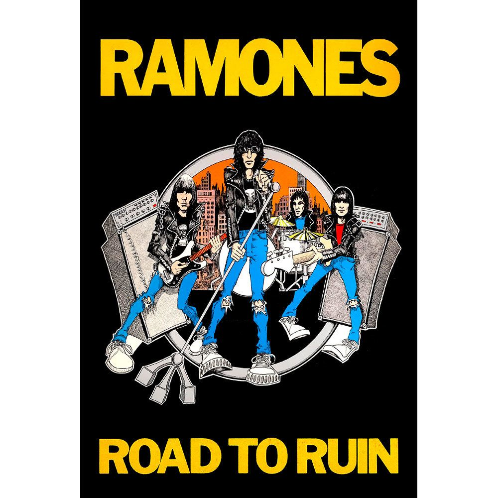 Placa Decorativa Planeta Decor Ramones Road To Run