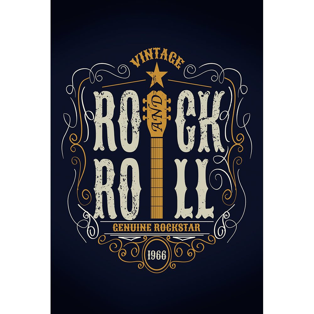 Placa Decorativa Planeta Decor Rock and Roll