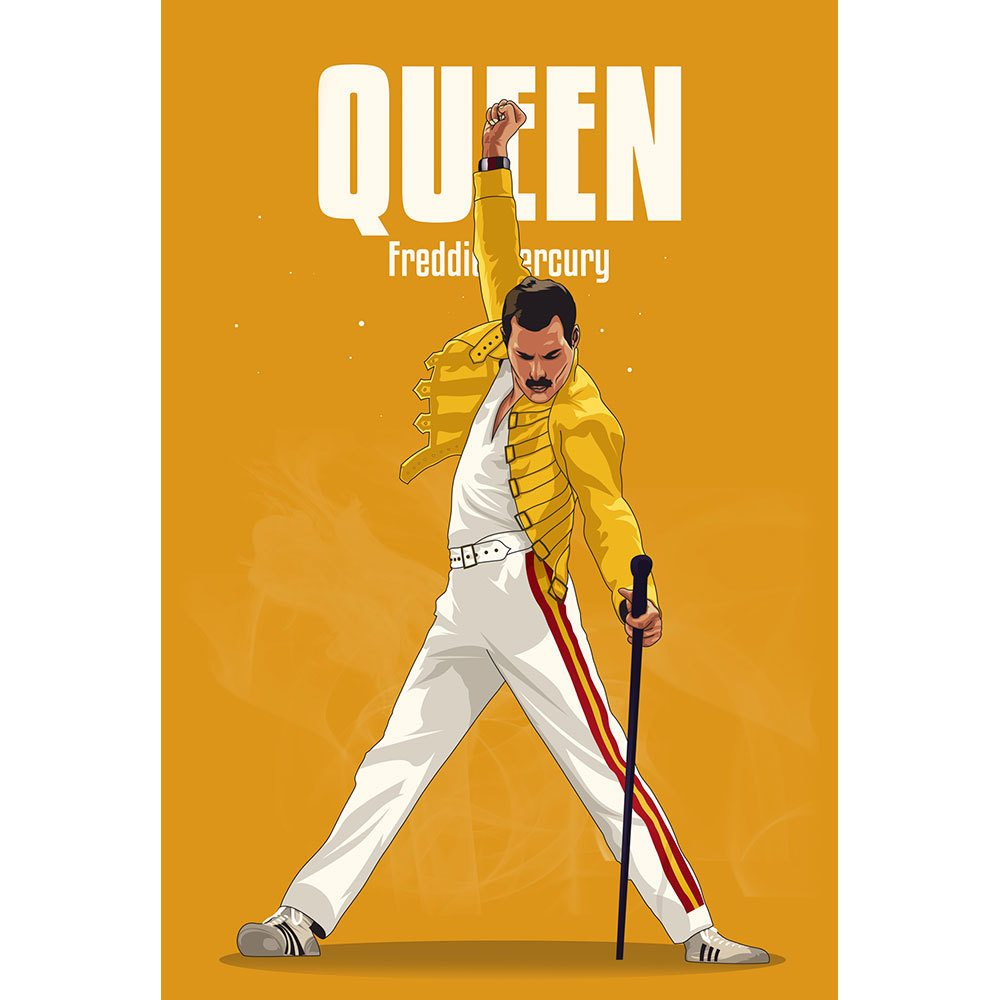 Placa Decorativa Planeta Decor Freddie Mercury