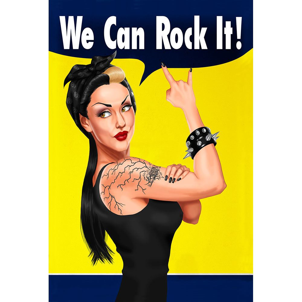 Placa Decorativa Planeta Decor We Can Rock It!