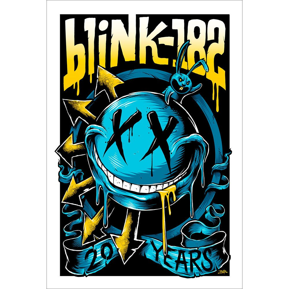 Placa Decorativa Planeta Decor Blink-182