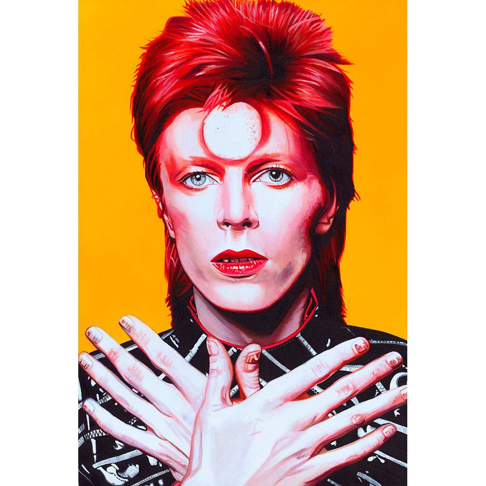 Placa Decorativa Planeta Decor David Bowie
