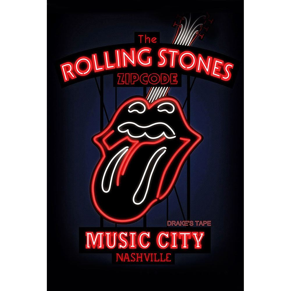 Placa Decorativa Planeta Decor The Rolling Stones Logo