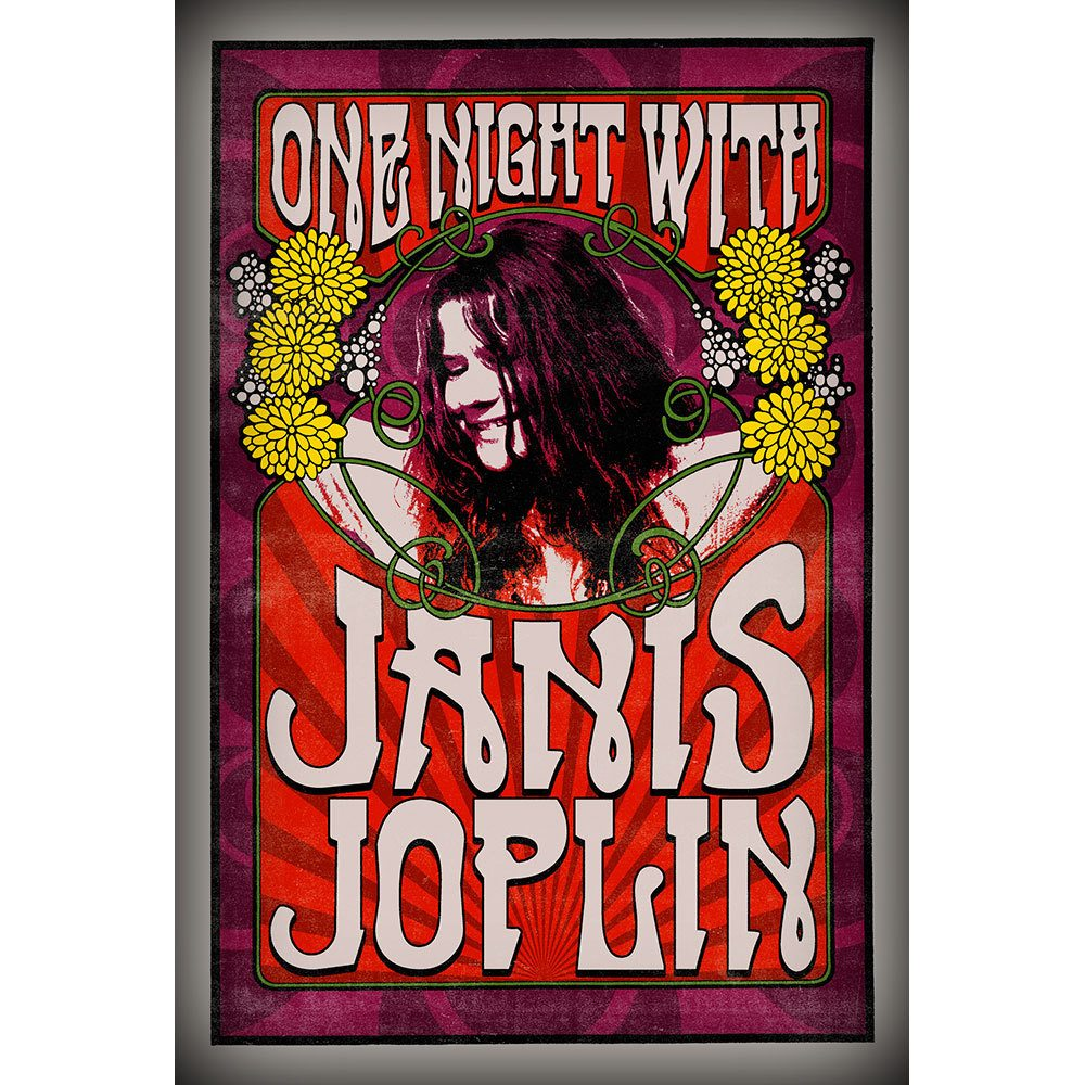 Placa Decorativa Planeta Decor Janis Joplin