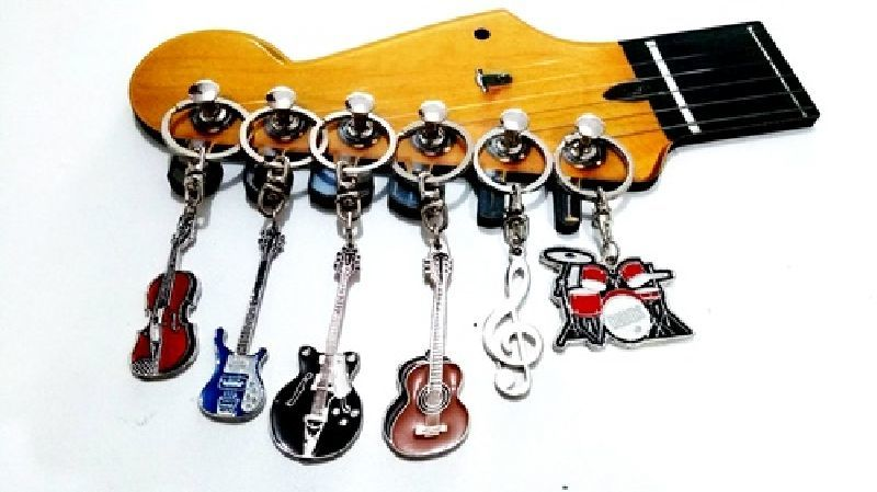 Porta Chave Madeira Guitarra