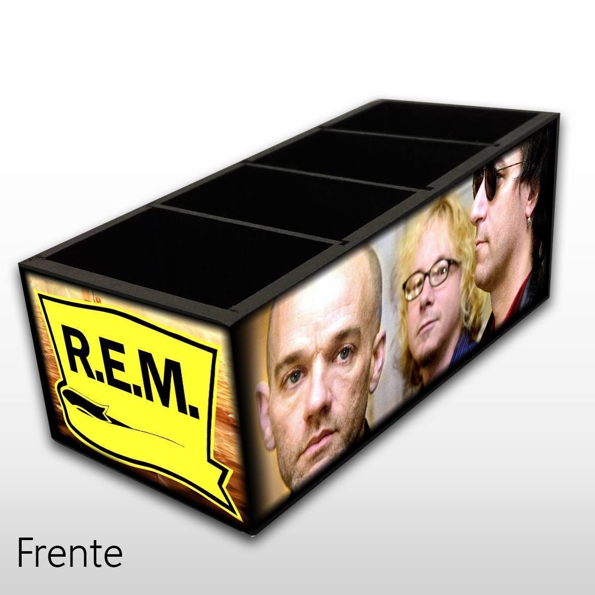 R.E.M. - Porta Controles em Madeira MDF - 4 Espaços - Mr. Rock