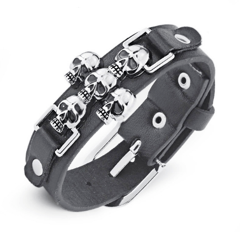 Pulseira Cross Skulls – SkullAchando