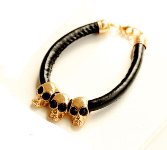Pulseira Skull Gold Trio – SkullAchando