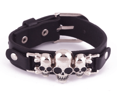 Pulseira Three Skull – SkullAchando