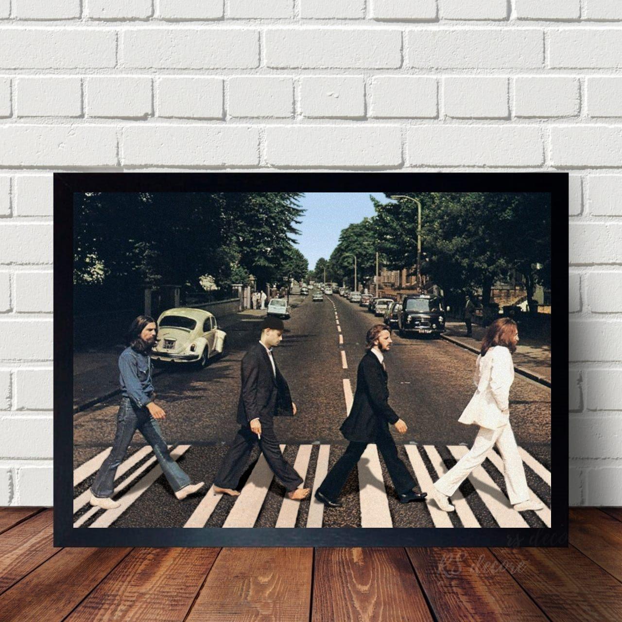 Quadro Classico Beatles Atravessando A Rua