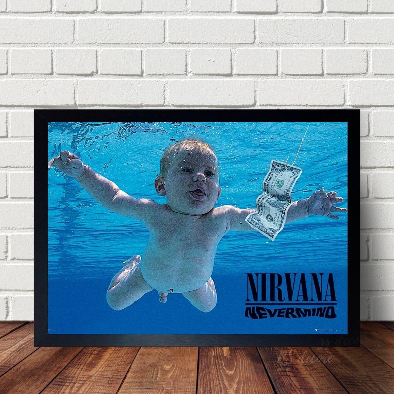Quadro Da Banda Nirvana Disco Classico