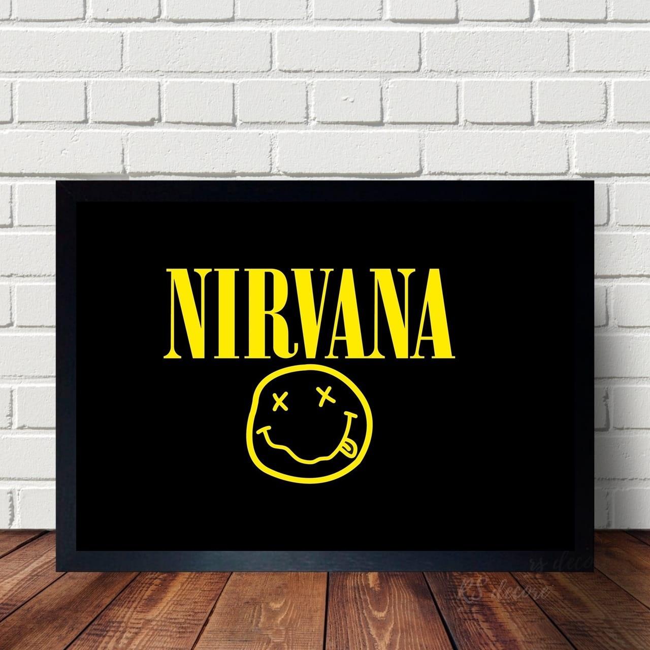 Quadro De Bandas Classicas Nirvana