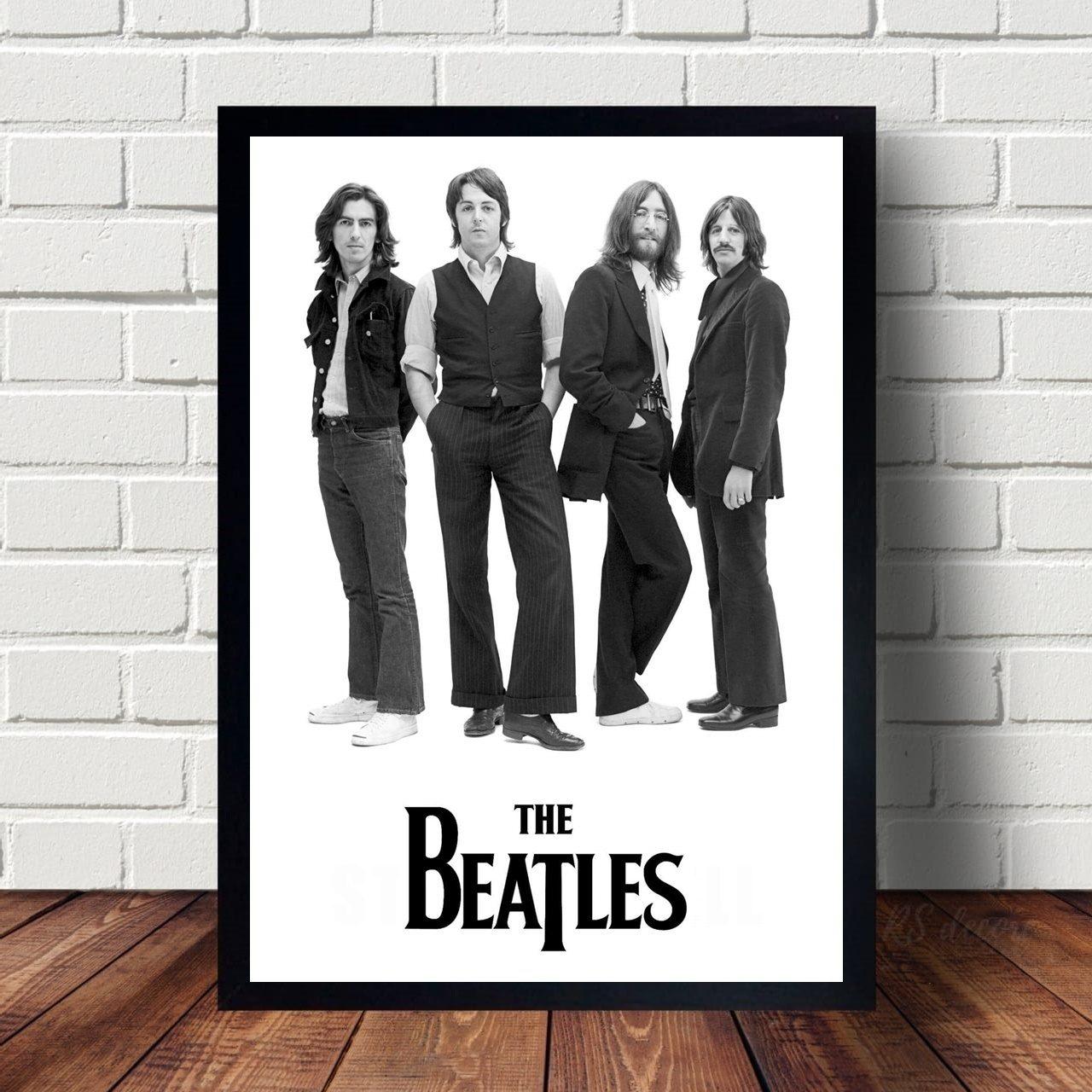 Quadro Decorativo Banda The Beatles