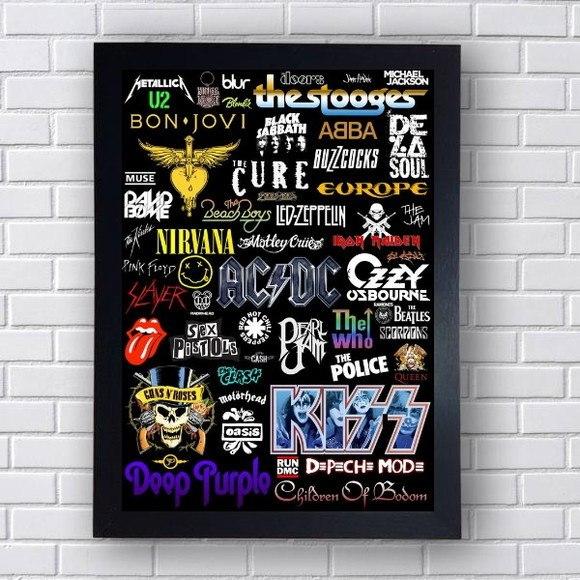 Quadro Decorativo Bandas de Rock II