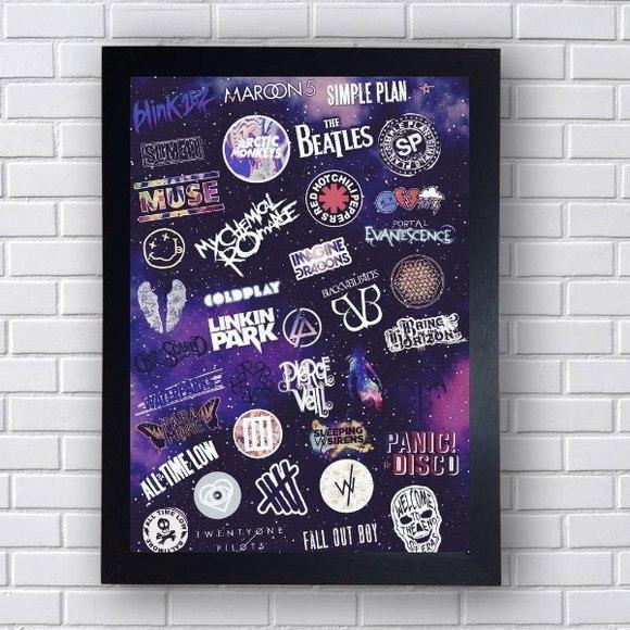 Quadro Decorativo Bandas de Rock IV