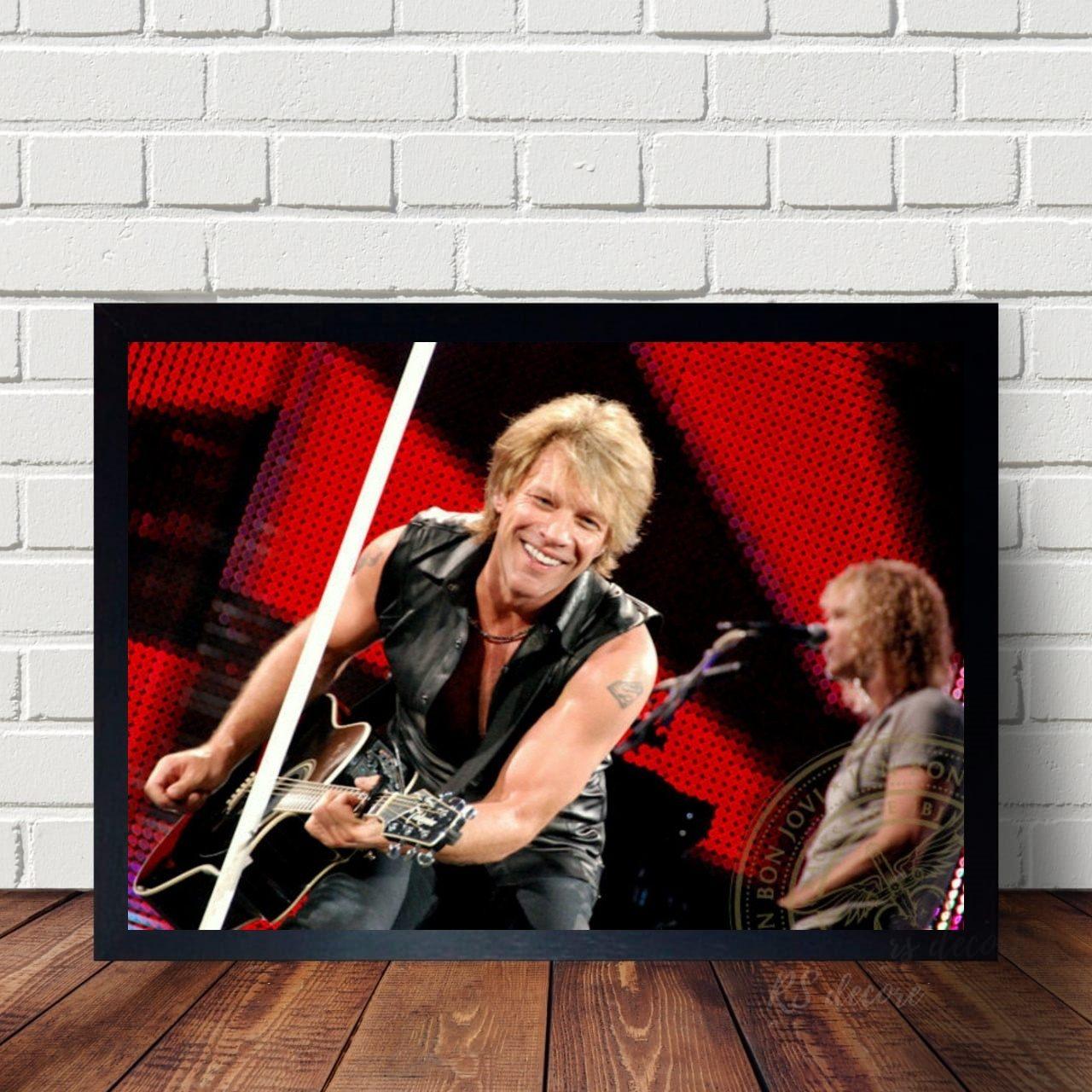 Quadro Decorativo Bon Jovi X