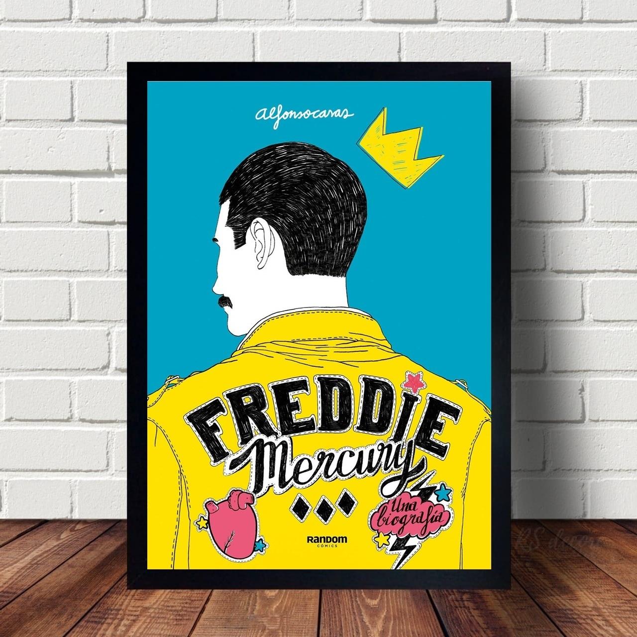 Quadro Decorativo Freddie Mercury Banda Queen Minimalista