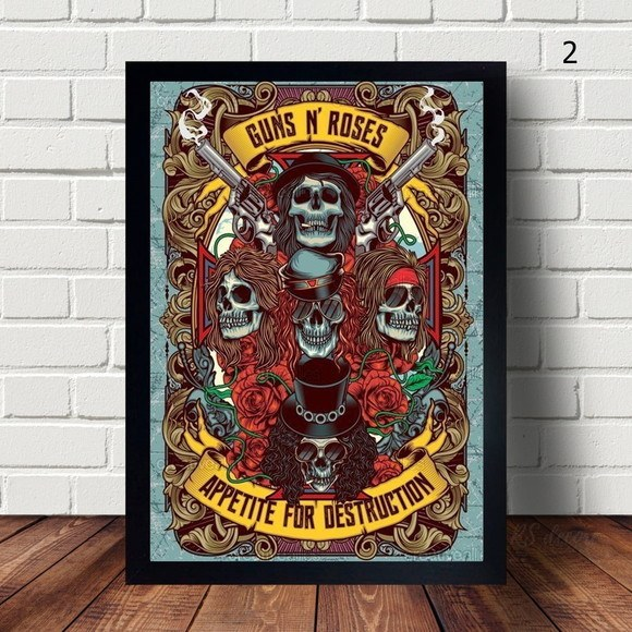 Quadro Decorativo Guns N' Roses I