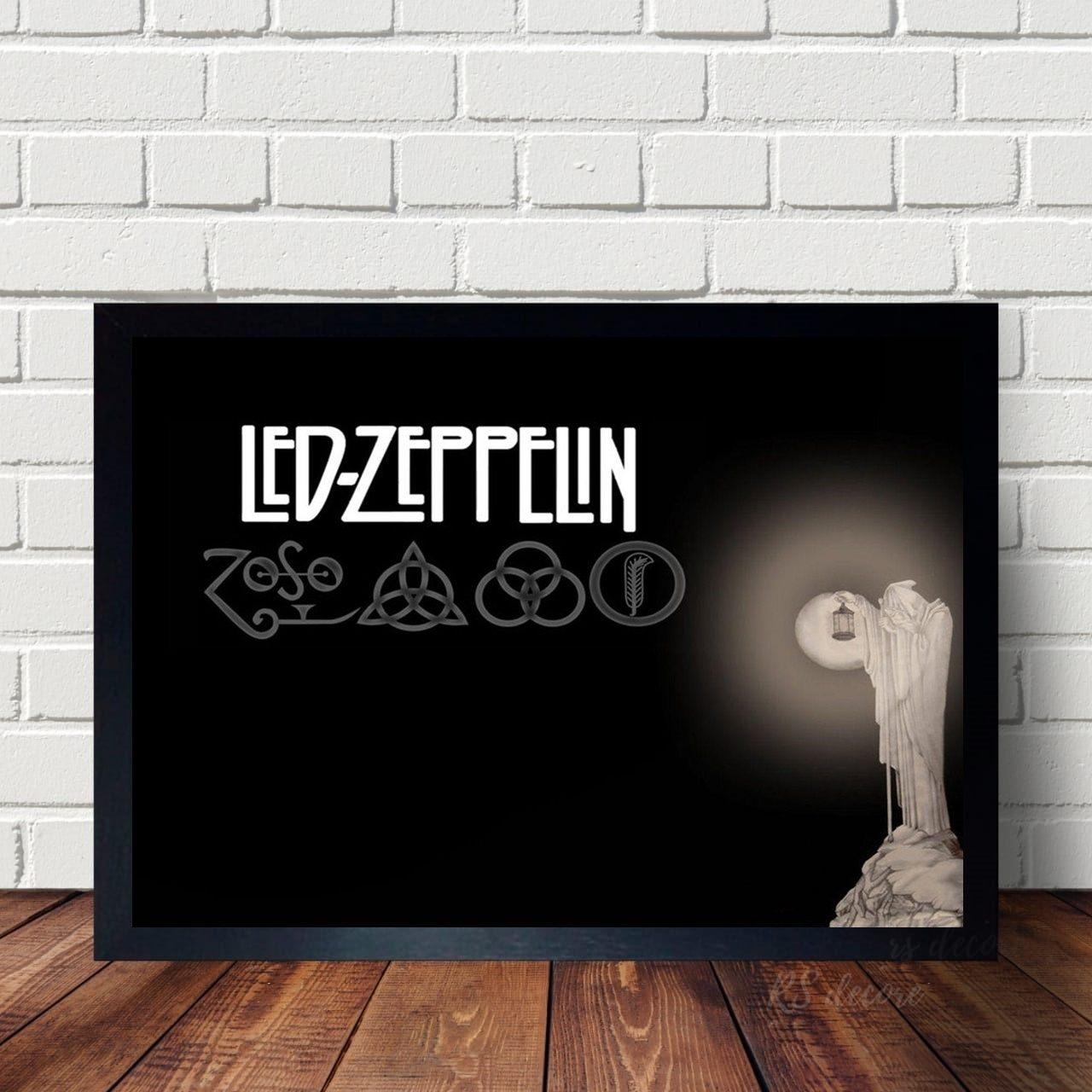 Quadro Decorativo Led Zeppelin Classico