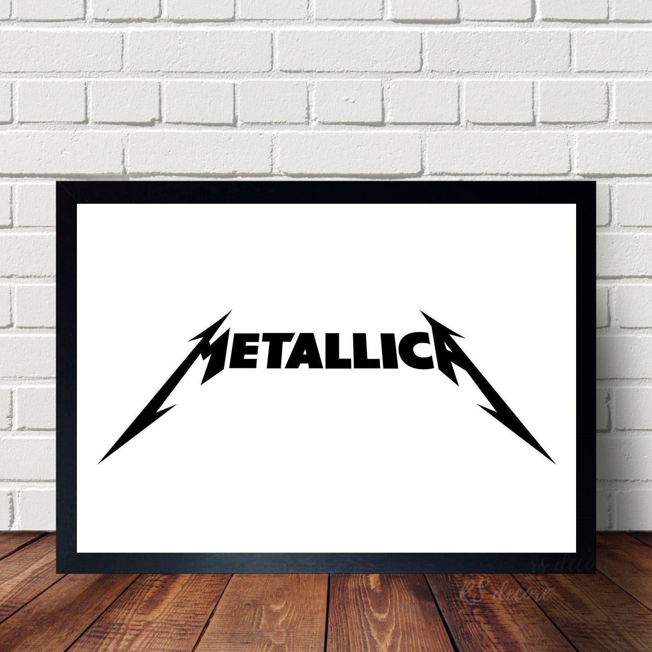 Quadro Decorativo Metallica X