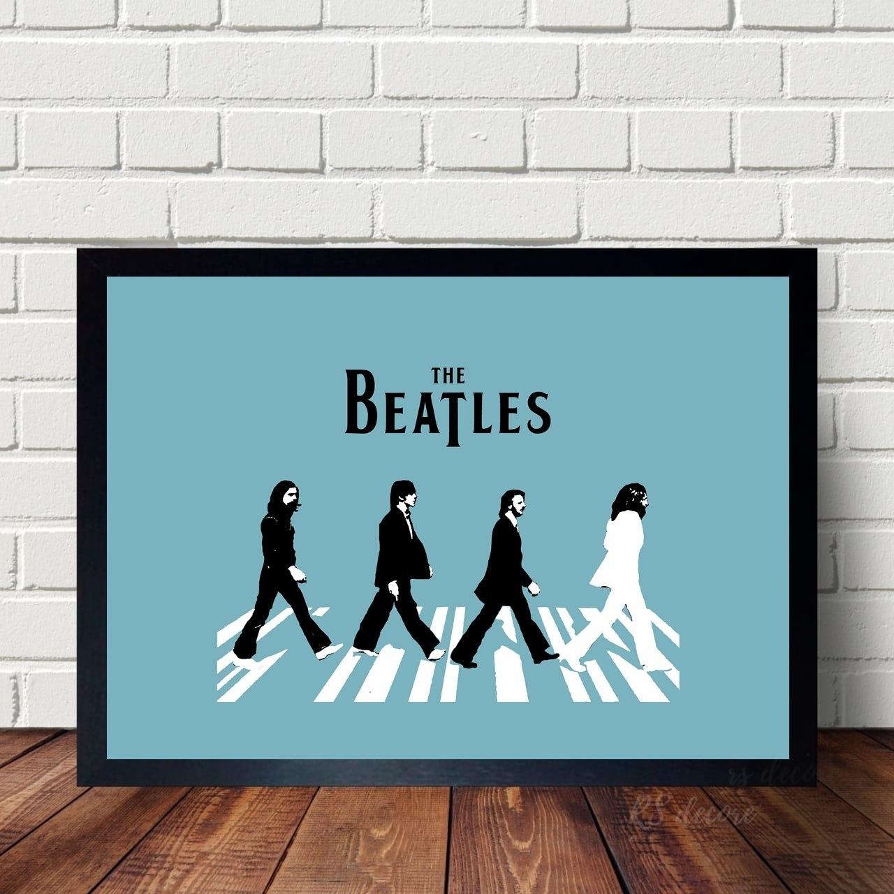Quadro Decorativo Minimalista The Beatles