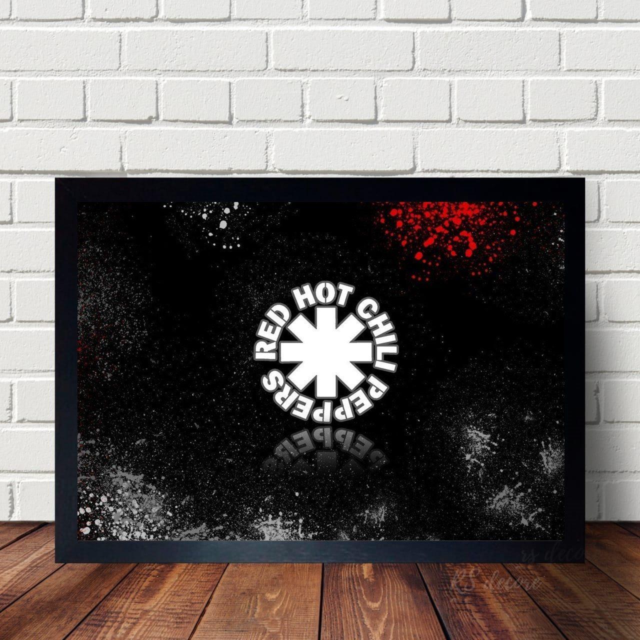Quadro Decorativo Red Hot Chili Peppers X