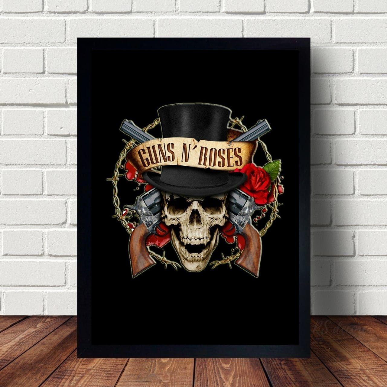 Quadro Guns N Roses Logo